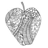 Σύγχυση της Apple zen, zen doodle Χρωματισμός της Apple Tatoo της Apple Στοκ φωτογραφία με δικαίωμα ελεύθερης χρήσης