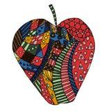 Σύγχυση της Apple zen, zen doodle Tatoo της Apple απεικόνιση αποθεμάτων