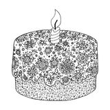 Σύγχυση της Zen και zen doodle floral πίτα Στοκ φωτογραφία με δικαίωμα ελεύθερης χρήσης