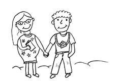 Σύζυγος Doodle και έγκυος σύζυγος Στοκ Εικόνες