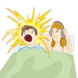 Σύζυγος Snoring Στοκ Εικόνες