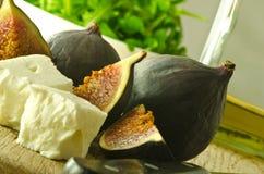 σύκα φέτας τυριών Στοκ εικόνα με δικαίωμα ελεύθερης χρήσης