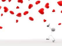 σύλληψη των καρδιών διανυσματική απεικόνιση