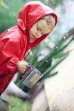 σύλληψη των σταγόνων βροχή&sig Στοκ Εικόνα