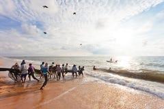 Σύλληψη των ψαριών, Σρι Λάνκα Στοκ Φωτογραφία