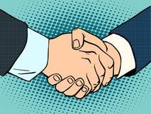 Σύμβαση επιχειρησιακής διαπραγμάτευσης χειραψιών διανυσματική απεικόνιση