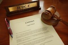 σύμβαση νομική Στοκ φωτογραφία με δικαίωμα ελεύθερης χρήσης