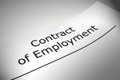 Σύμβαση της απασχόλησης Στοκ Εικόνες