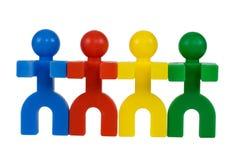 σύμβολα ανθρώπων που ενώνονται Στοκ Φωτογραφίες