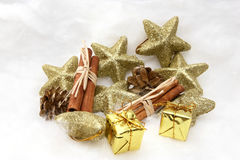 σύμβολα δώρων Χριστουγένν στοκ εικόνες