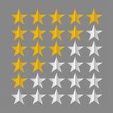Σύμβολα εκτίμησης αστεριών στοκ φωτογραφία με δικαίωμα ελεύθερης χρήσης