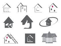 σύμβολα επισκευής σπιτ&iot Στοκ Εικόνα