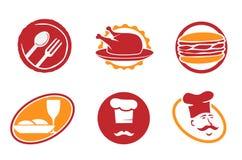 σύμβολα εστιατορίων εμβ&l Στοκ εικόνες με δικαίωμα ελεύθερης χρήσης