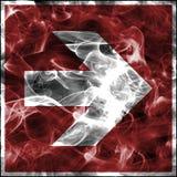 Σύμβολα καπνού έκτακτης ανάγκης για τον πυροσβεστικό εξοπλισμό Τυποποιημένο σημάδι πυρασφάλειας για το βέλος πυροπροστασίας απεικόνιση αποθεμάτων