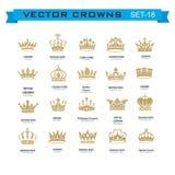 Σύμβολα κορωνών βασιλιάδων και βασίλισσας Στοκ Εικόνες