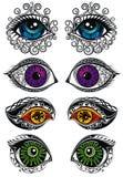Σύμβολα ματιών, διανυσματικά μυστήρια μάτια, διανυσματική απεικόνιση, διακοσμητικά στοιχεία απεικόνιση αποθεμάτων