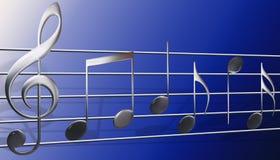 σύμβολα μουσικής Στοκ Εικόνες