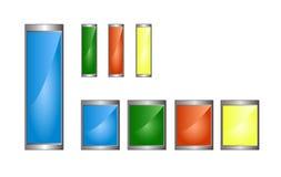 Σύμβολα μπαταριών Διανυσματική απεικόνιση