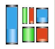 Σύμβολα μπαταριών Στοκ φωτογραφία με δικαίωμα ελεύθερης χρήσης