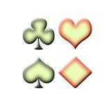 σύμβολα παιχνιδιών καρτών Στοκ εικόνα με δικαίωμα ελεύθερης χρήσης