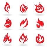 σύμβολα πυρκαγιάς ελεύθερη απεικόνιση δικαιώματος
