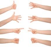 σύμβολα σημαδιών χεριών s Στοκ Φωτογραφίες