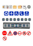 σύμβολα συλλογής Στοκ φωτογραφίες με δικαίωμα ελεύθερης χρήσης