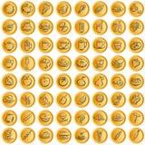 σύμβολα τροφίμων κουμπιών w Στοκ φωτογραφίες με δικαίωμα ελεύθερης χρήσης