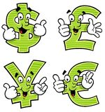 Σύμβολα χρημάτων κινούμενων σχεδίων Στοκ φωτογραφίες με δικαίωμα ελεύθερης χρήσης