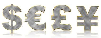Σύμβολα χρημάτων Bling Στοκ φωτογραφία με δικαίωμα ελεύθερης χρήσης