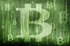 Σύμβολα Bitcoin Στοκ Φωτογραφίες