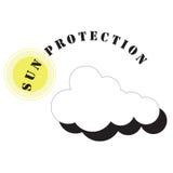 σύμβολο ήλιων προστασία&sigma Στοκ φωτογραφία με δικαίωμα ελεύθερης χρήσης