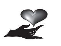 σύμβολο αγάπης προσοχής Στοκ Εικόνες