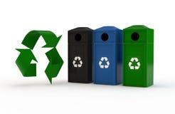 σύμβολο ανακύκλωσης εμπορευματοκιβωτίων Στοκ Εικόνες