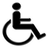 σύμβολο αναπηρίας Στοκ φωτογραφίες με δικαίωμα ελεύθερης χρήσης