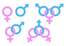 Σύμβολο ανδρών και γυναικών, διανυσματική απεικόνιση αποθεμάτων ελεύθερη απεικόνιση δικαιώματος
