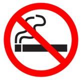 Σύμβολο απαγόρευσης του καπνίσματος Στοκ Φωτογραφίες