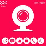Σύμβολο εικονιδίων Webcam απεικόνιση αποθεμάτων