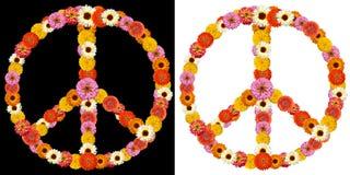 Σύμβολο ειρήνης που γίνεται από τα λουλούδια Στοκ εικόνες με δικαίωμα ελεύθερης χρήσης