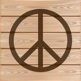 Σύμβολο ειρήνης χίπηδων Στοκ εικόνα με δικαίωμα ελεύθερης χρήσης