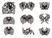 Σύμβολο και πεταλούδες αλόγων τεράτων που δημιουργούνται από το ελεύθερη απεικόνιση δικαιώματος
