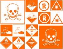 σύμβολο κινδύνου συλλογής Στοκ Εικόνες
