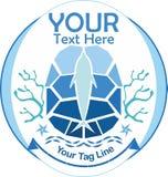 Σύμβολο λογότυπων Consevations ωκεανών ελεύθερη απεικόνιση δικαιώματος