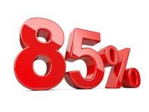 Σύμβολο ογδόντα πέντε κόκκινο τοις εκατό ποσοστό ποσοστού 85% Ειδικός μακριά Διανυσματική απεικόνιση