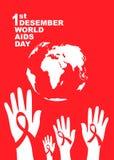 Σύμβολο Παγκόσμιας Ημέρας κατά του AIDS 1 Δεκεμβρίου Παγκόσμια Ημέρα κατά του AIDS Συνειδητοποίηση ενισχύσεων κόκκινη κορδέλλα ,  στοκ φωτογραφία