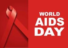 Σύμβολο Παγκόσμιας Ημέρας κατά του AIDS 1 Δεκεμβρίου Παγκόσμια Ημέρα κατά του AIDS Συνειδητοποίηση ενισχύσεων κόκκινη κορδέλλα ,  στοκ εικόνα με δικαίωμα ελεύθερης χρήσης