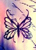 Σύμβολο πεταλούδων σε έναν πίνακα στοκ εικόνες