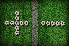 σύμβολο ποδοσφαίρου Στοκ εικόνα με δικαίωμα ελεύθερης χρήσης