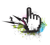 σύμβολο ποντικιών χεριών ελεύθερη απεικόνιση δικαιώματος