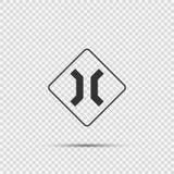 Σύμβολο που πλησιάζει το στενό σημάδι γεφυρών στο διαφανές υπόβαθρο διανυσματική απεικόνιση